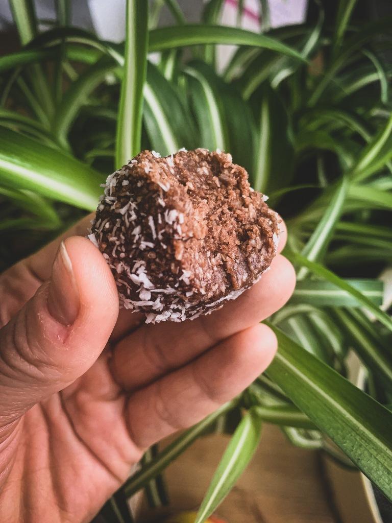 Vähähiilihydraattinen ja vegaaninen kookospallo